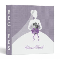 Purple Bridal shower Recipe Folder