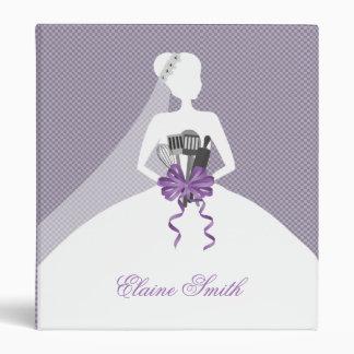 purple bridal shower recipe folder