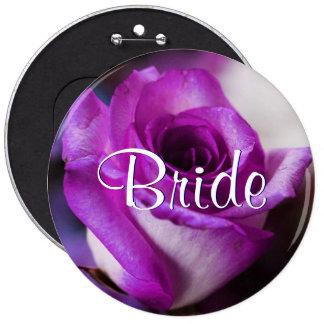 Purple Bride Rose Button