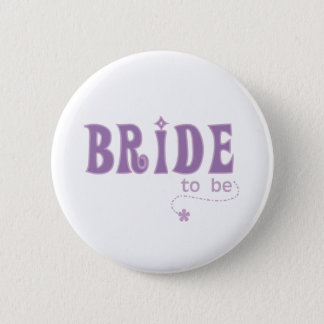 Purple Bride to Be Button