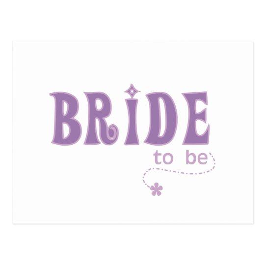 Purple Bride to Be Postcard