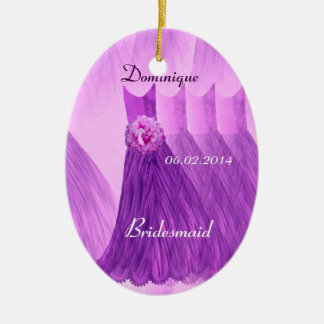 Purple Bridesmaid Thank You Wedding V001 Ceramic Ornament