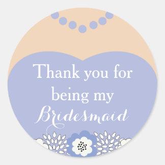 Purple Bridesmaid Wedding Thank You Stickers
