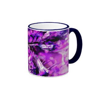 Purple brightly sharply ringer coffee mug