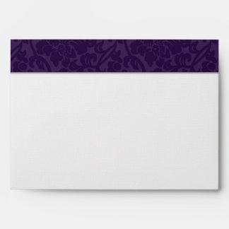 Purple Brocade Love Swans Envelope