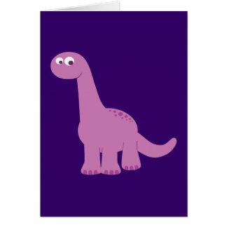 Purple Brontosaurus Dinosaur Card
