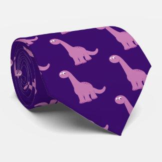 Purple Brontosaurus Dinosaur Neck Tie
