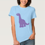 Purple Brontosaurus Dinosaur Tee Shirt