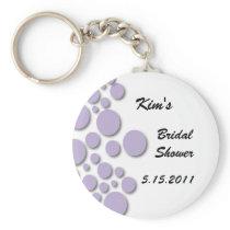 Purple Bubble Bridal Shower Key Chain