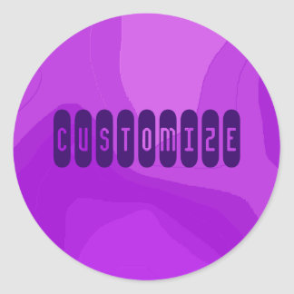 Purple Bubble Gum - Template Stickers