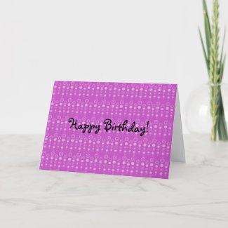 Purple bubble pattern card