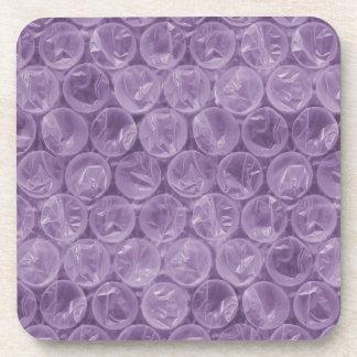 Purple bubble wrap pattern beverage coaster