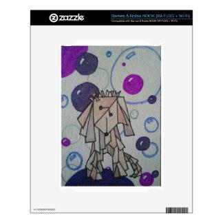 Purple BubbleCasso NOOK Skin