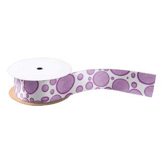 Purple Bubbles Lightened Ribbon Satin Ribbon