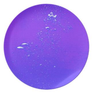 Purple bubbles melamine plate