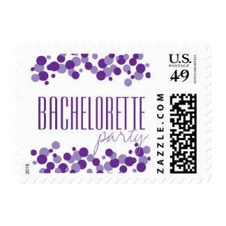 Purple Bubbles Pattern Party Postage Stamps