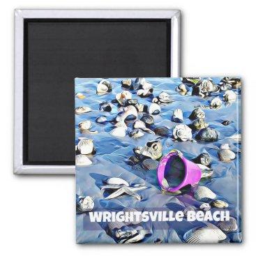 Beach Themed Purple Bucket Magnet