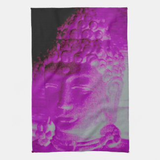 purple buddha head towel