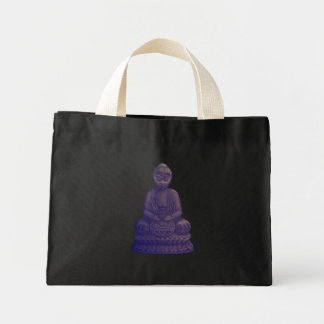 Purple Buddha Pixel Art Mini Tote Bag