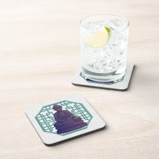 Purple Buddha Pixel Art Drink Coaster