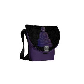 Purple Buddha Pixel Art Courier Bag