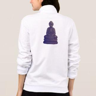 Purple Buddha Pixel Art Printed Jackets