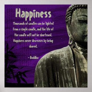 Purple Buddha Statue Poster Customizable
