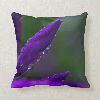 Purple Buds Throw Pillow