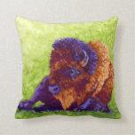 Purple Buffalo Throw Pillows