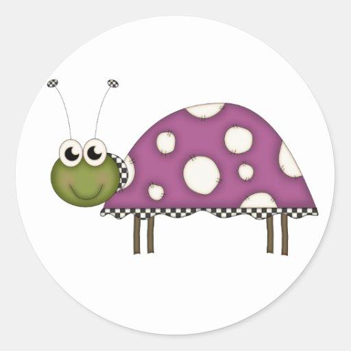 Purple Bug Classic Round Sticker
