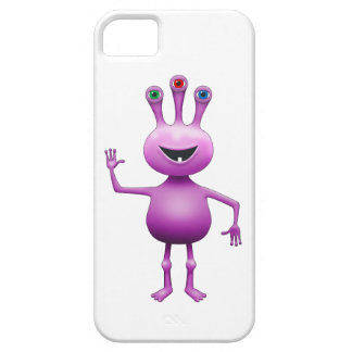 Purple Bug-Eyed Alien iPhone 5/5s Cover