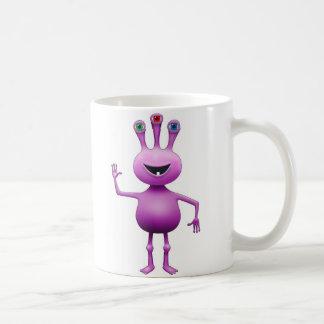 Purple Bug-Eyed Alien Mug
