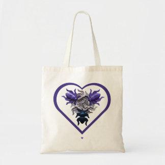 Purple Bugs in Heart Tote