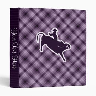 Purple Bull Rider 3 Ring Binder