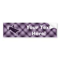 Purple Bull Rider Bumper Sticker