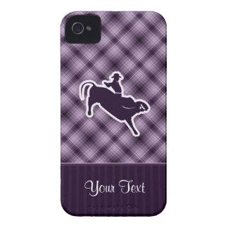 Purple Bull Rider iPhone 4 Case-Mate Cases