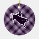 Purple Bull Rider Ornaments