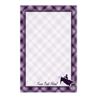 Purple Bull Rider Stationery