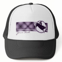 Purple Bull Rider Trucker Hat