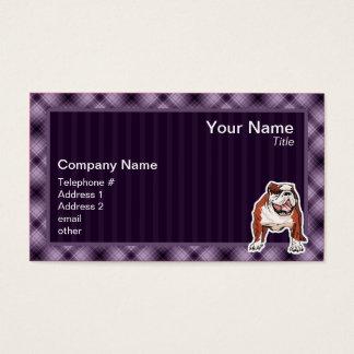 Purple Bulldog Business Card