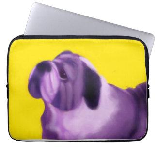 Purple Bulldog Computer Sleeve