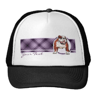 Purple Bulldog Trucker Hat