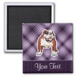 Purple Bulldog Magnets