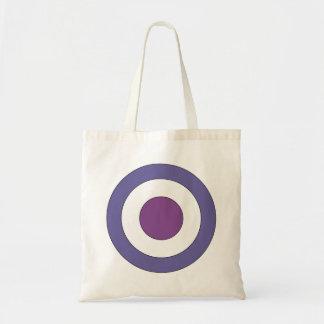 Purple Bulls-eye Bags