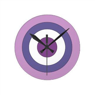 Purple Bulls-eye Clock