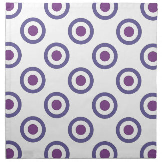 Purple Bulls-eye Napkin