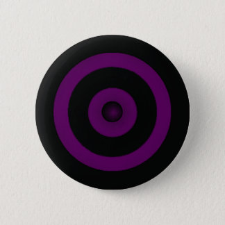 PURPLE BULLS EYE PINBACK BUTTON