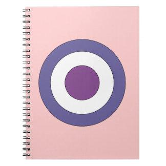 Purple Bulls-eye Spiral Notebook