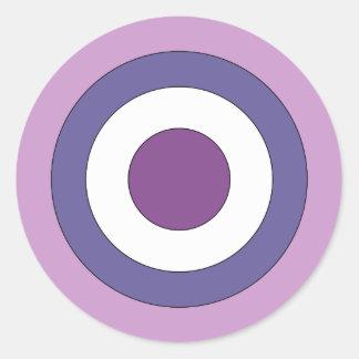 Purple Bulls-eye Classic Round Sticker