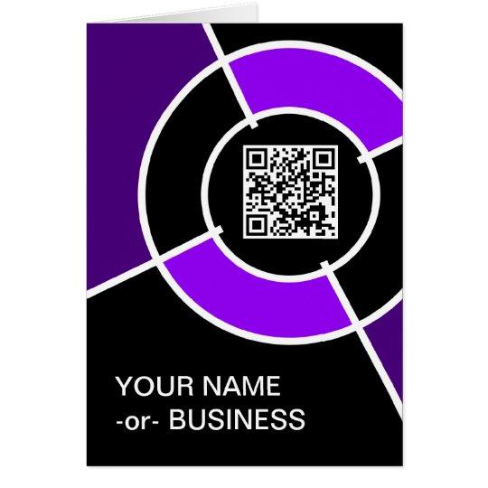 purple bullseye QR code Card